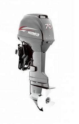 Motor de popa Hidea 70 HP 2T - Comando à distância - Power Trim - Partida Elétrica - Rab. 20 pol. - Produtor Rural ou CNPJ