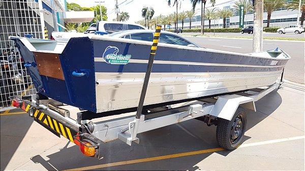 Barco de alumínio Martinelli Tornado 600 + Carreta Rodoviária Viga U