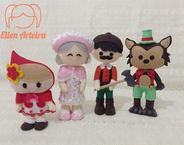 Bonecos Chapeuzinho Vermelho - 20 cm