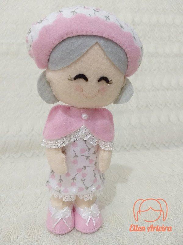 Boneca Vovó da Chapeuzinho Vermelho - 20 cm