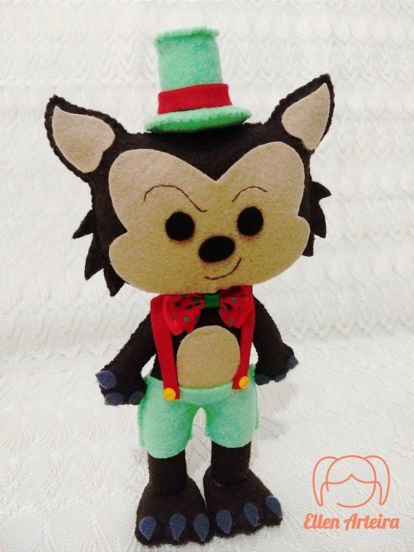 Boneco Lobo Mau da Chapeuzinho Vermelho - 20 cm
