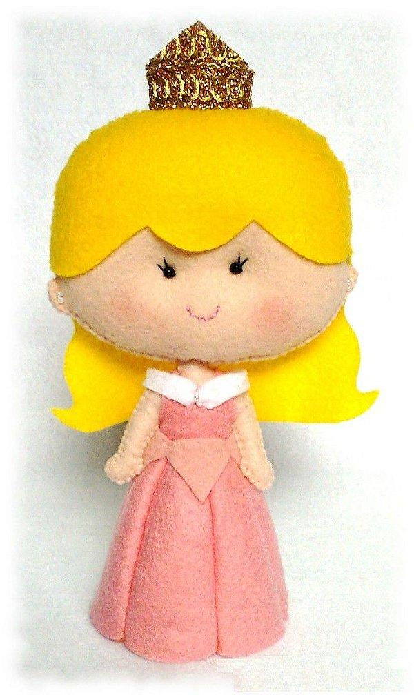 Boneca em Feltro Aurora - 25 cm