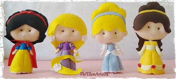 Kit com 7 Princesas em Feltro - 40 cm