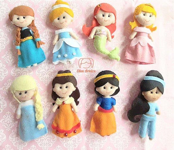 Princesas em Feltro - 12 cm