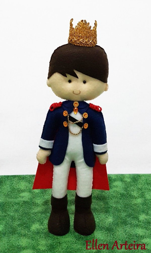 Rei Arthur em Feltro - 30 cm