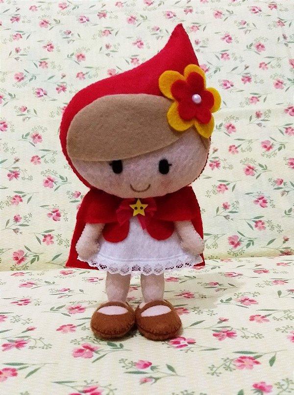 Boneca Chapeuzinho Vermelho - 20 cm