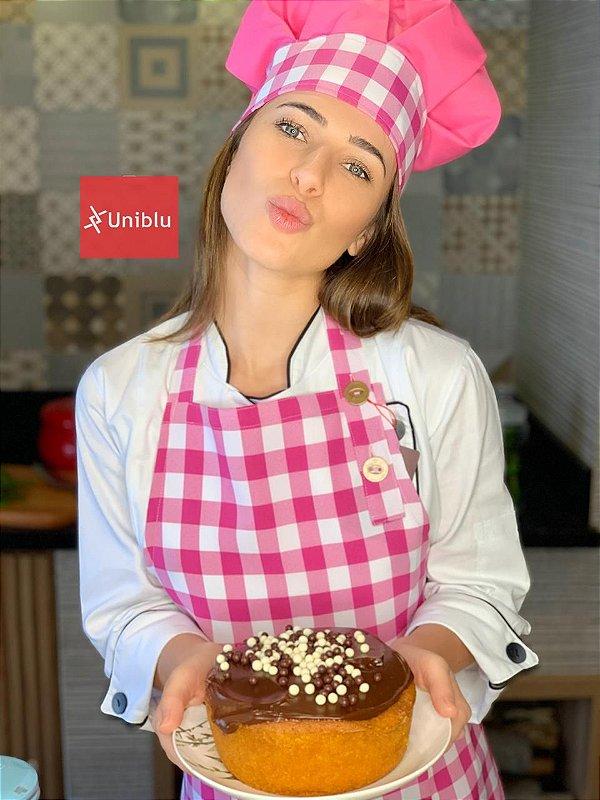 Avental Roma - Xadrez Pink - Uniblu