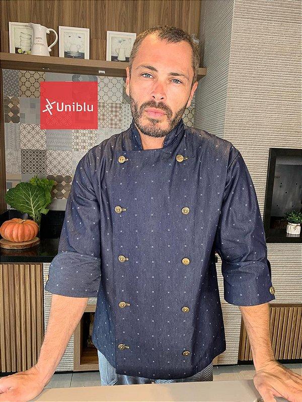 Camisa Chefe  Cozinha - Dolmãn Stilus Jeans - Uniblu