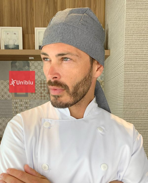 Bandana - Touca Pirata  Duoface Chumbo - ( unisex )  Uniblu