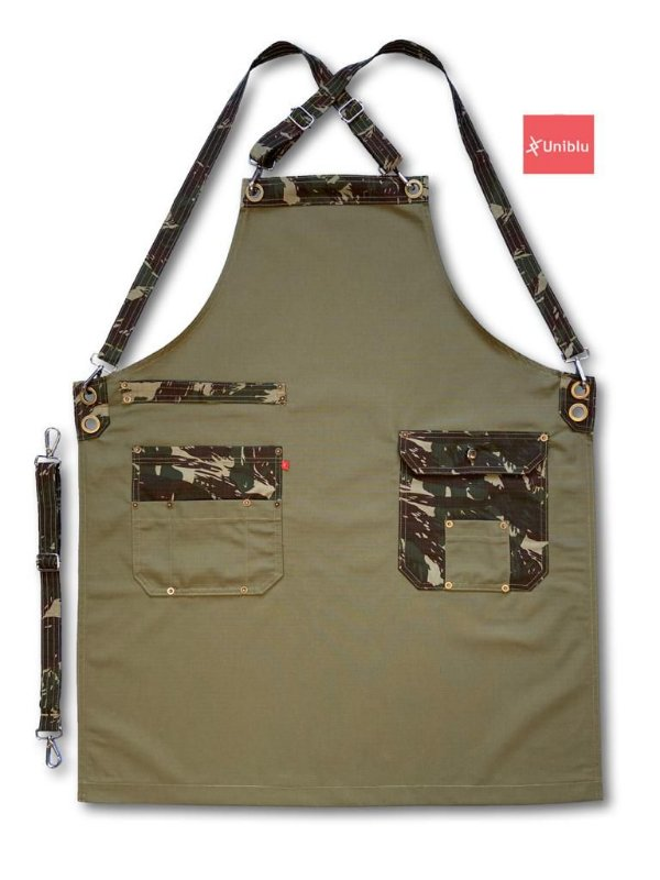 Avental Vintage Militar - Uniblu