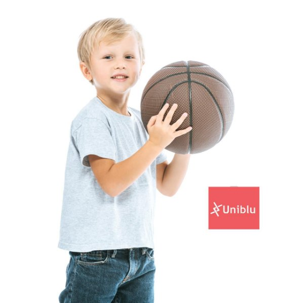 Camiseta Malha Infantil cor- Cinza Mescla Unikids - Uniblu