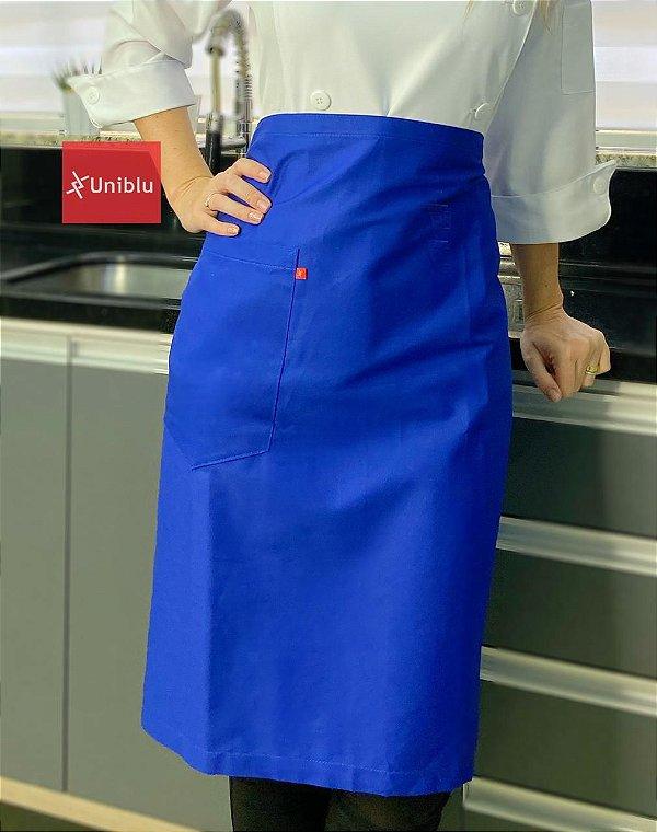 Avental Cintura Meia Saia -  Azul Royal - Uniblu