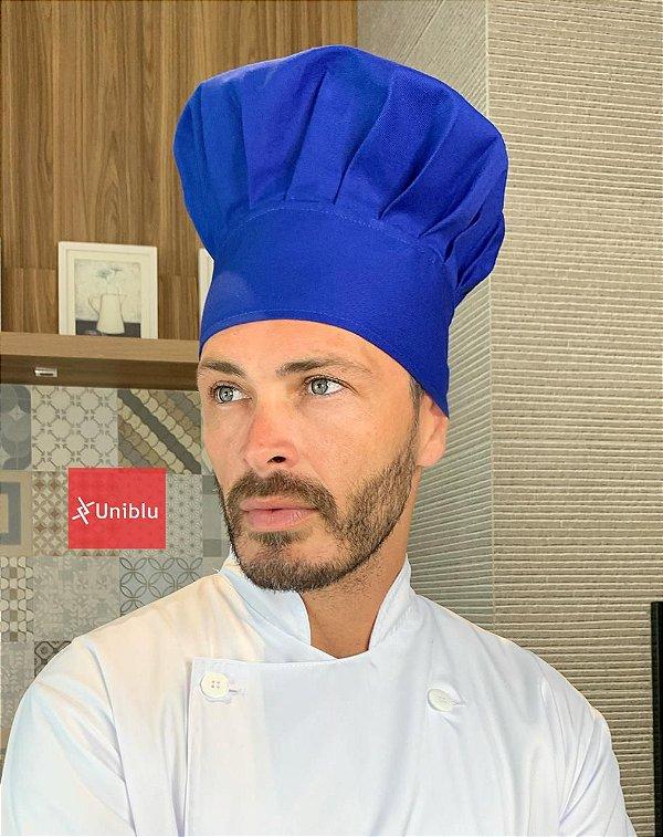 Touca Chefe ou Chapéu Chefe - Azul Royal ( unisex ) uniblu