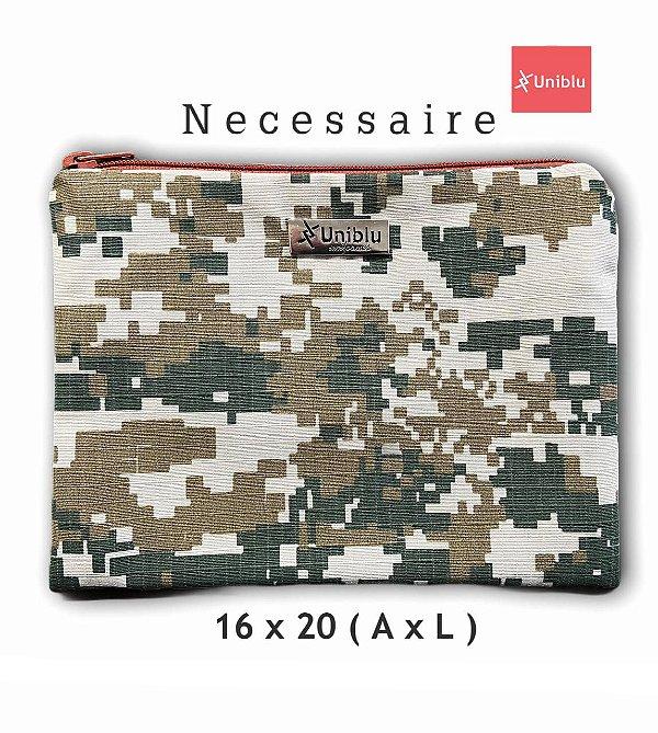 Necessaire - Abstrato Militar  - Uniblu