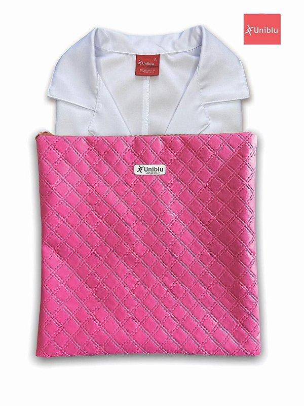 Porta Jalecos - Porta Dólman - Pink  - Uniblu
