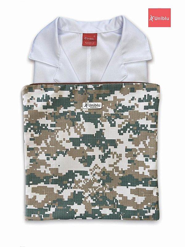 Porta Jalecos - Porta Dólman - Camuflado Exército Americano  - Uniblu