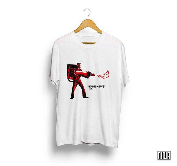 Camiseta Leo Incendiário - Fake News