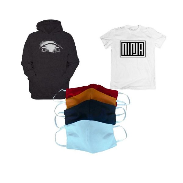 KIT 6: NINJA (Camiseta Ninja + Moletom + Kit máscara)
