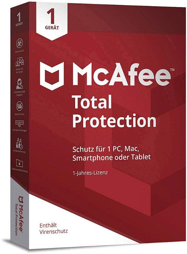 McAfee Total Security 2021 - Licença Para 1 Dispositivo + Nota Fiscal