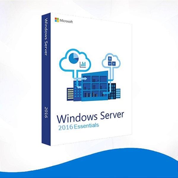 Windows Server 2016 Essentials - Licença Vitalícia + Nota Fiscal