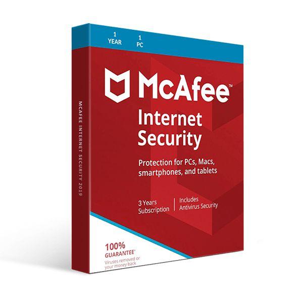 McAfee Internet Security 2021 - Licença Para 1 Dispositivo + Nota Fiscal