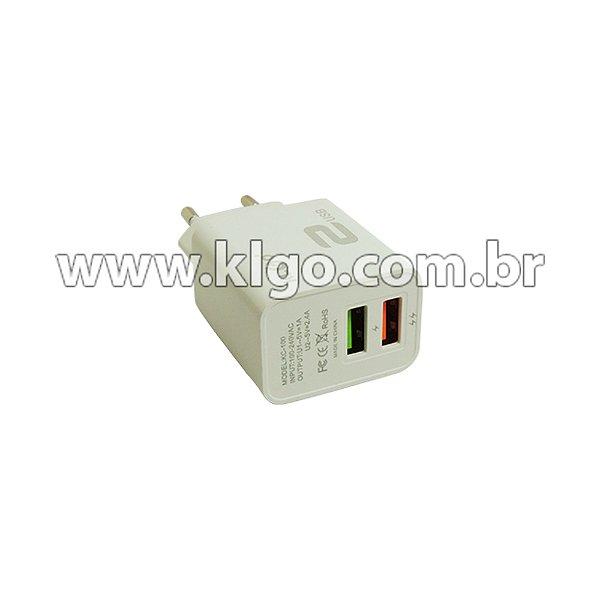 Carregador Universal KLGO Dual USB KC100