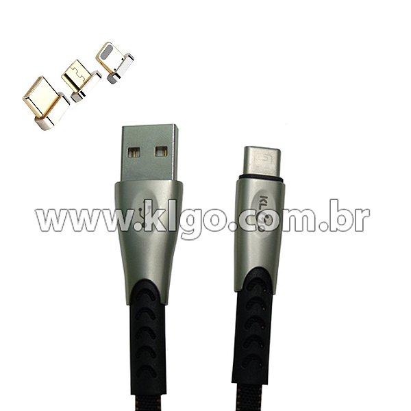 Cabo USB KLGO S63 iOS iPhone Para Dados e Carregamento