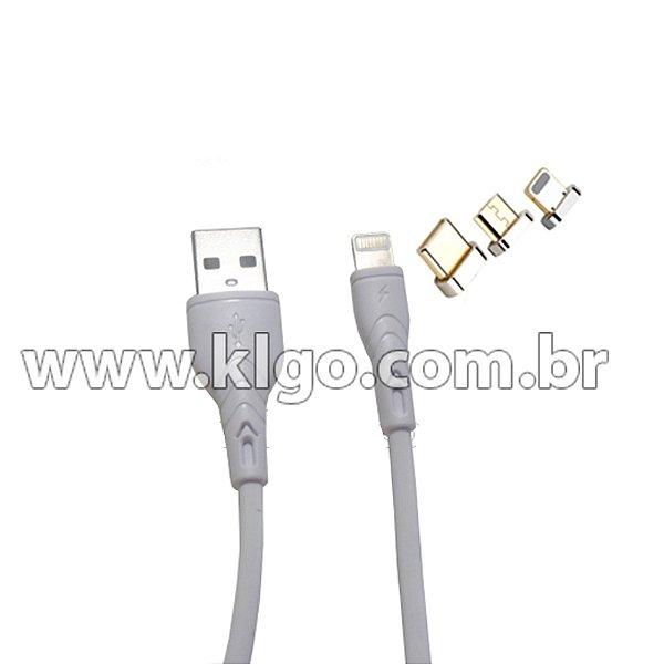 Cabo USB KLGO S71 iOS iPhone para Dados e Carregamento