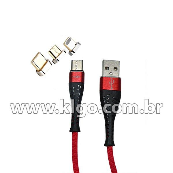 Cabo USB KLGO S22 Tipo C para Dados e Carregamento