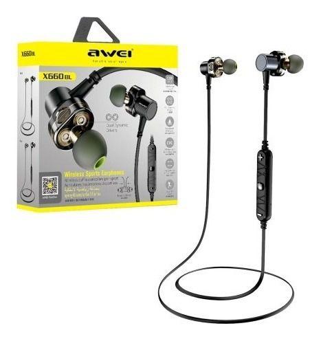 Fone de ouvido Bluetooth AWEI X660BL