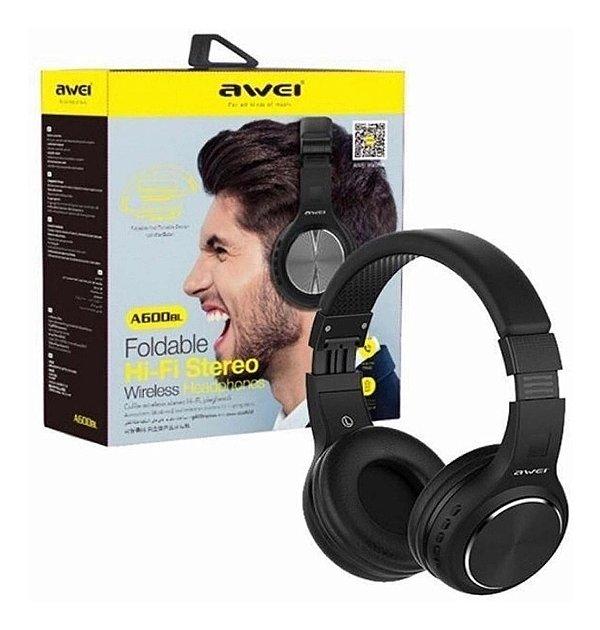 Fone de ouvido Headset Bluetooth AWEI A600 BL