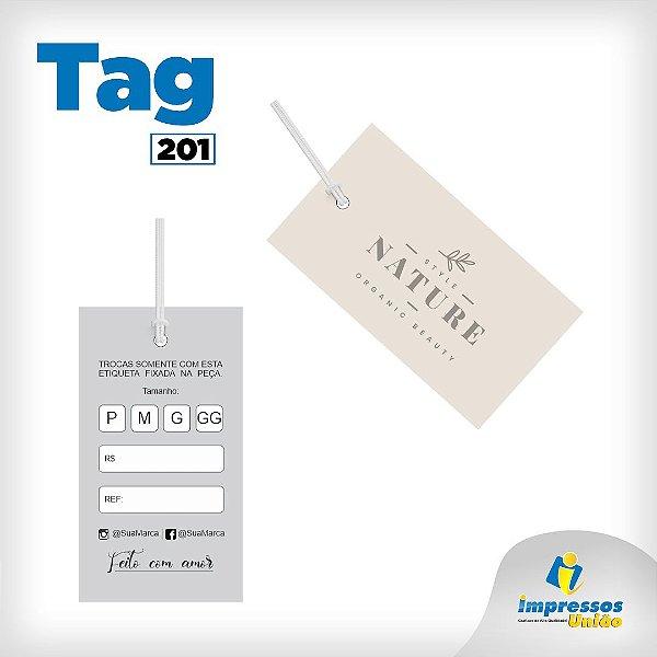 Tag etiqueta em Couché Brilho  para loja Modelo 201