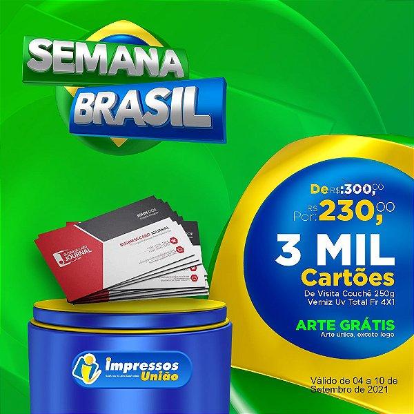 PROMOÇÃO 3 MIL CARTÕES DE VISITAS COUCHÊ 250G 4X1
