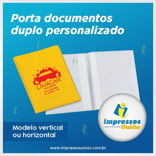 Porta Documentos Duplo Horizontal