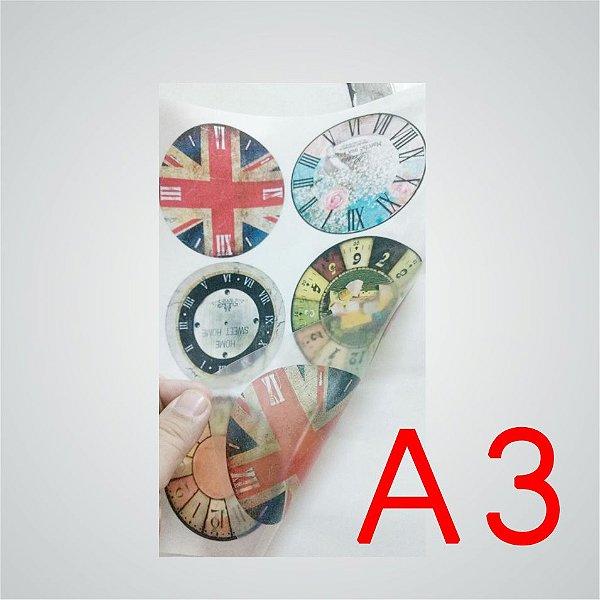 Papel Adesivo Vinil Transparente A3 para impressora jato de tinta - Pacote com 5 folhas