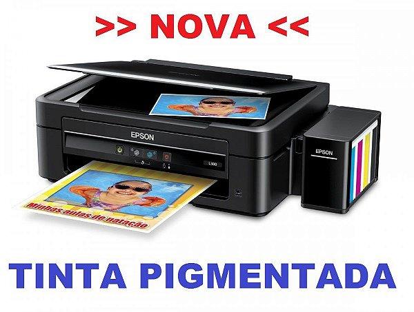 Impressora EPSON EcoTank L380 com 4 frascos de 130ml de Tinta Original Inktec PIGMENTADA