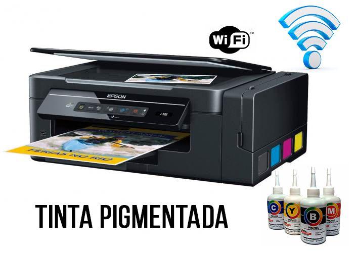 Impressora EPSON L396 ecotank WIFI DIRECT com 520ml de Tinta Original Inktec PIGMENTADA