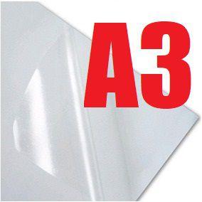 Papel sublimático adesivo VINIL TRANSPARENTE A3   - 5 folhas