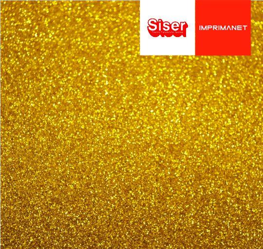 P.S Filme de recorte SISER Glitter Dourado - SISER - ( 1mt X 50cm ) - G0020