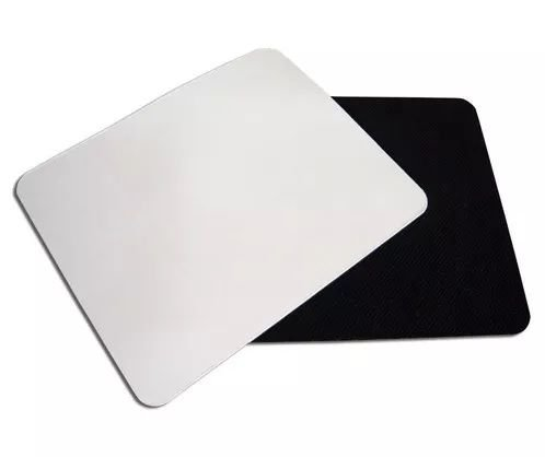 Mouse pad para sublimação quadrado - 18,8cm x 18,8cm x 3mm - 10 unidades