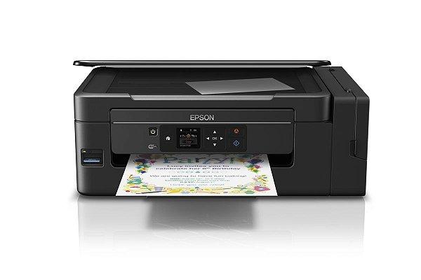 Impressora EPSON L495 ecotank com WIFI com  520ml de Tinta corante Inktec