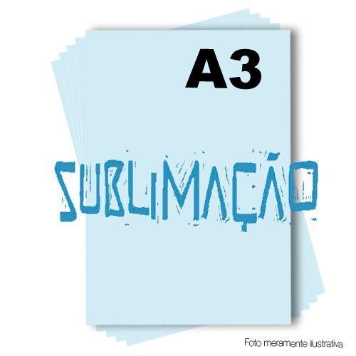 Papel Sublimático A3 do fundo azul tratado - Pacote de 100 folhas