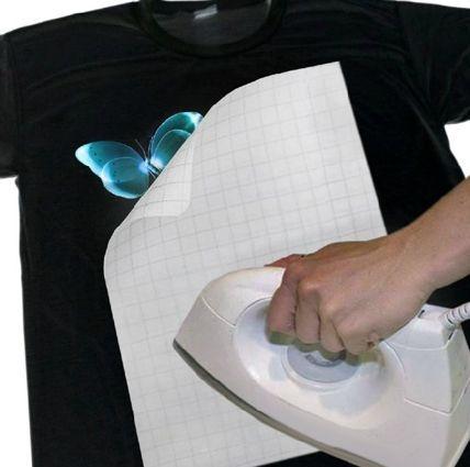 Papel Transfer Dark Para Tecidos Escuros 235 gr A4 - 5 folhas