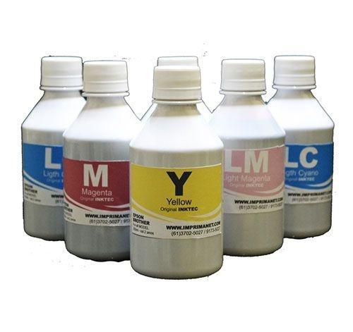 Tinta Original InkTec para impressora EPSON / Brother (Corante) Proteção UV - frasco de 250ml