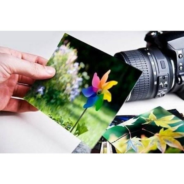 Papel Fotográfico 10 x 15 cm 180 gr Brilhante á prova d'água - 20 folhas