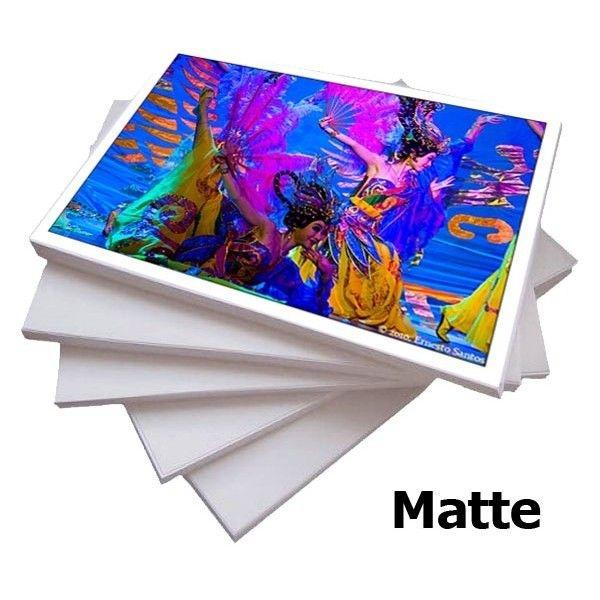 Papel Matte Fosco A4 108gr de alta resolução - Pacote com 100 folhas