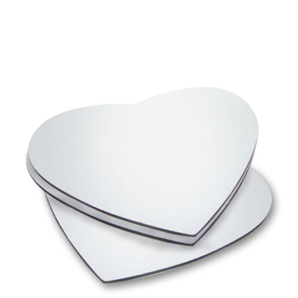 Mouse pad para sublimação coração  - 1 unidade