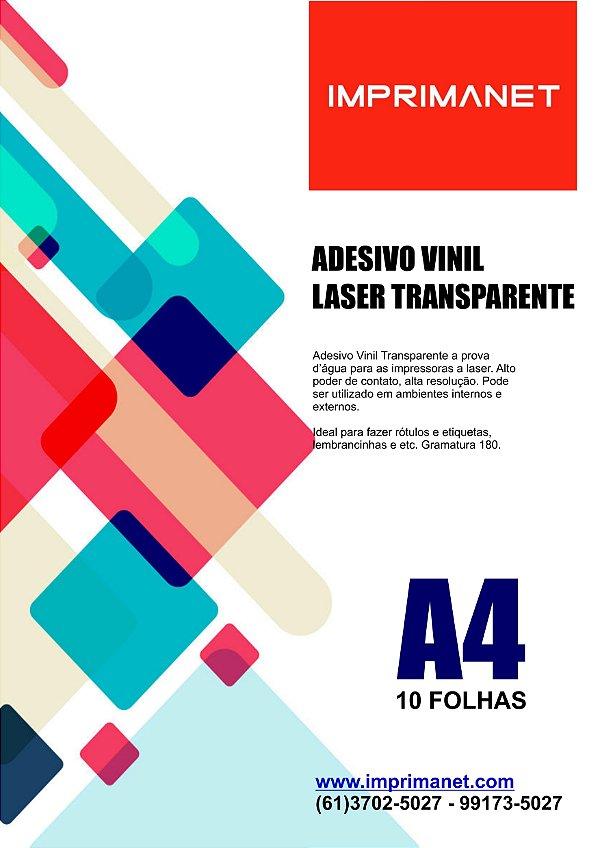 DUPLICADO - Papel Vinil Adesivo Branco A4 a Laser  - Pacote com 10 folhas.