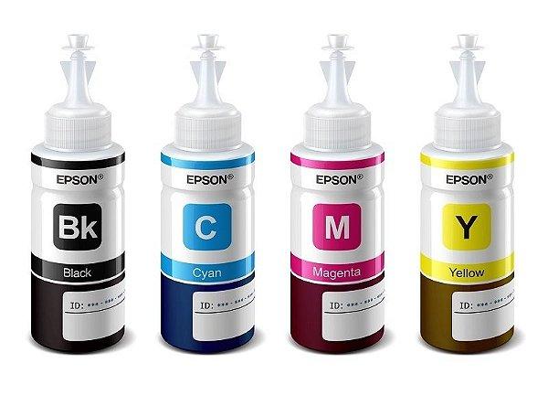 Kit 4 tintas original EPSON 664 para L375 L365, L355, L210, L200, L455, L555, L565, L100, L110, L395, L380 e outras