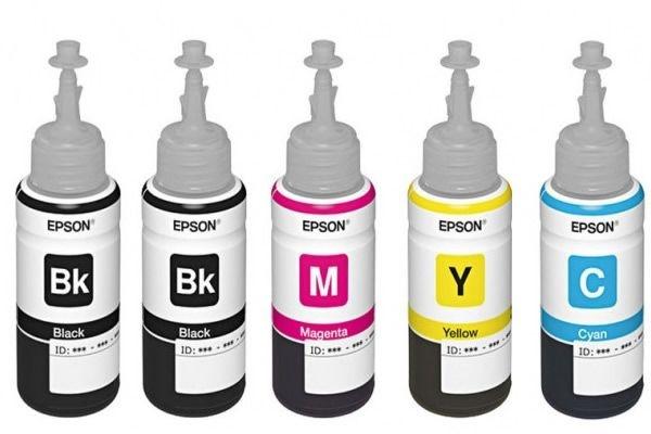 Kit 5 tintas original EPSON L1300 ecotank 664